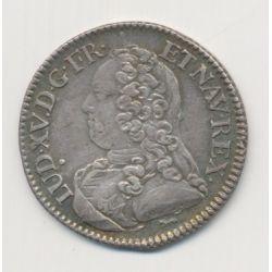 Louis XV - 1/5 écu aux branches d'olivier - 1727 A Paris