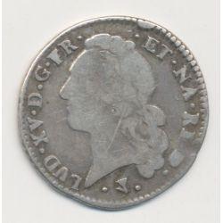 Louis XV - 1/5 écu au bandeau du Béarn - 1766 Pau