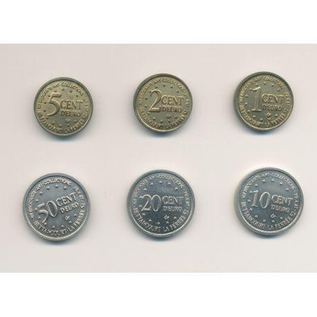 Série 6 Monnaies Euro - Bettancourt la ferrée - 1997 - 1 cent à 20 cent