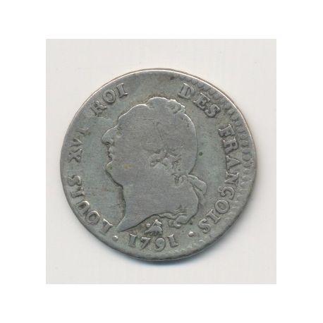 Louis XVI - 15 Sols - 1791 B Rouen