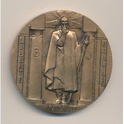 Médaille Maçonnique - Grand Orient de France - bronze - par Blin