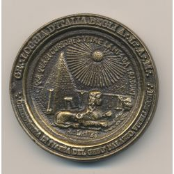 Médaille Maçonnique - Grande Loge d'Italie -  Inauguration du siège 1991 - bronze