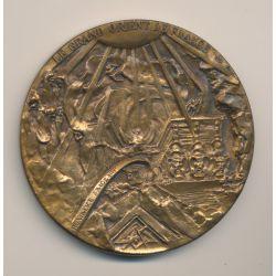 Médaille Maçonnique - Grand Orient de France - Mozart - bronze