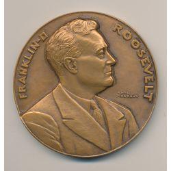 Médaille Maçonnique - Respectable loge - Franklin Roosevelt - bronze