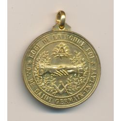 Médaille Maçonnique - Loge de la bonne foi - Orient Saint germain en laye - bi centenaire 1778/1978 - cuivre doré