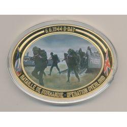 Médaille D-Day - Opération Overlord N°2 - Collection 70e anniversaire débarquement en normandie - cuivre doré - 85mm x 62mm