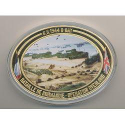 Médaille D-Day - Opération Overlord N°3 - Collection 70e anniversaire débarquement en normandie - cuivre doré - 85mm x 62mm