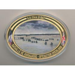 Médaille D-Day - Opération Overlord N°6 - Collection 70e anniversaire débarquement en normandie - cuivre doré - 85mm x 62mm