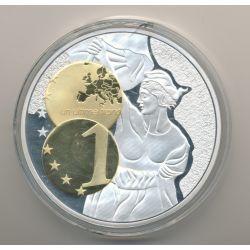 Médaille - Un Ultime Franc - Adieu au Franc - 70mm