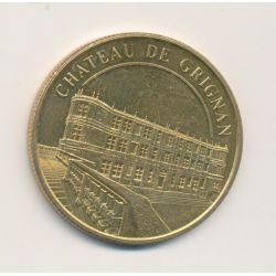 Dept26 - Chateau de Grignan - Médailles et Patrimoine