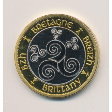 Medaille - Bretagne - en couleur