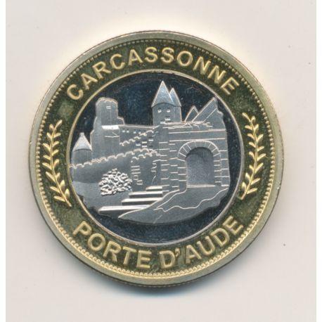 Médaille - Carcassonne - porte d'aude - dame carcas