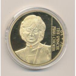Médaille 40mm - Bijoux princesse Diana - cuivre doré