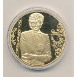 Médaille 40mm - Bijoux princesse Diana N°2 - cuivre doré