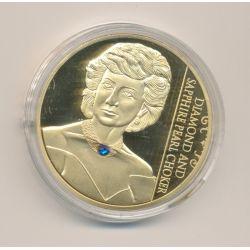 Médaille 40mm - Bijoux princesse Diana N°3 - cuivre doré