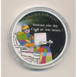 Médaille 40mm - Srephen Hawking