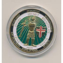 Médaille 40mm - Defend the faith - Chevaliers en armures