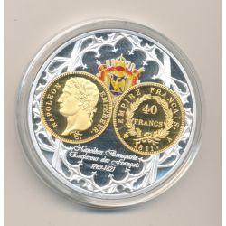 Médaille - 40 Francs Or - 1811 A - Napoléon empereur - 50mm