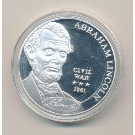 Médaille - Abraham Lincoln - Civil war 1861 - cuivre argenté
