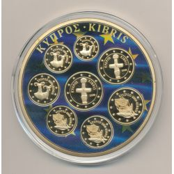Médaille 70mm - Série Chypre - Europa - cuivre doré