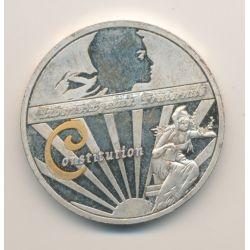 Médaille - Constitution - Les symboles de la république française - 40mm - cupronickel