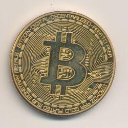 Médaille - Bitcoin - cuivre doré