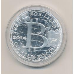 Médaille - Bitcoin - 1 once 2014 argent