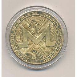 Médaille - Crypto monnaie M - doré