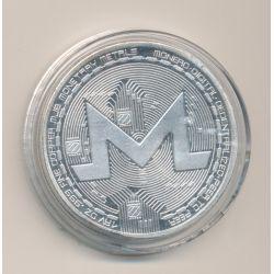Médaille - Crypto monnaie M - argenté