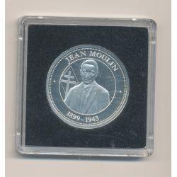 Médaille - Jean Moulin - collection Panthéon - argent - 30mm