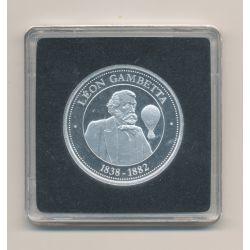 Médaille - Léon Gambetta - collection Panthéon - argent - 30mm