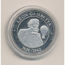 Médaille - Léon gambetta - 1838-1882 - collection Panthéon - 41mm - cupronickel