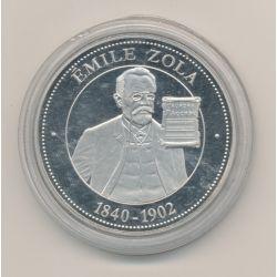 Médaille - Émile Zola - 1840-1902 - collection Panthéon - 41mm - cupronickel