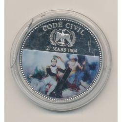 Médaille - Code civil - 21 mars 1804 - en couleur