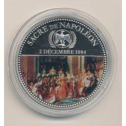 Médaille - Sacre de Napoléon - 2 décembre 1804 - en couleur