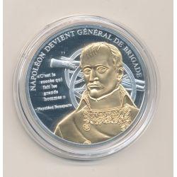 Médaille - Napoléon devient général de brigade - la vie de Napoléon bonaparte - cuivre argenté et doré
