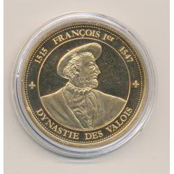 Médaille - François 1er - Dynastie des valois - cupronickel doré - Rois et reines de France - 41mm