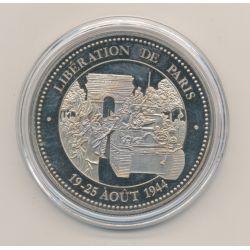 Médaille - Libération de Paris - 19-25 aout 1944 - 5e République - nickel - 40mm