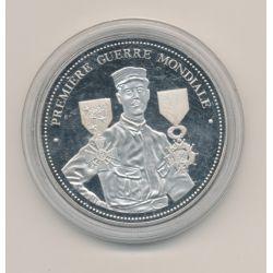 Médaille - Première guerre mondiale - 5e République - nickel - 40mm