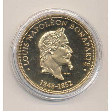 Médaille - Louis Napoléon Bonaparte - Président de la République - nickel doré - 41mm