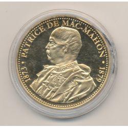 Médaille - Patrice de Mac-Mahon - Président de la République - nickel doré - 41mm