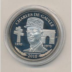 Médaille - Charles De Gaulle - Président de la République - 41mm