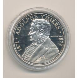 Médaille - Adolphe Thiers - Président de la République - 41mm