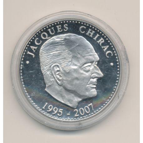 Médaille - Jacques Chirac - Président de la République - 41mm