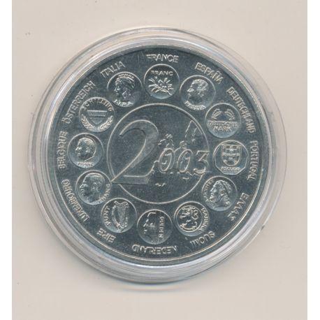 """Médaille - Europe 2003 essai - L""""europe des 15 - nickel - 41mm"""