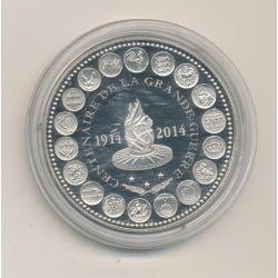 """Médaille - Centenaire de la grande guerre - L""""europe des XXIII - nickel - 41mm"""