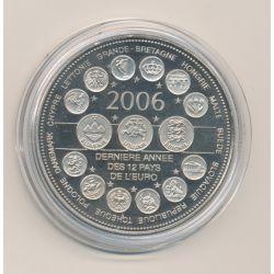"""Médaille - Dernière année des 12 pays de l'euro - 2006 essai - L""""europe des XXV - nickel - 41mm"""