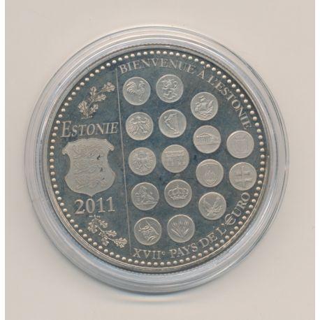 "Médaille - Bienvenue à l'Estonie - 2011 essai - L""europe des XXVII - nickel - 41mm"