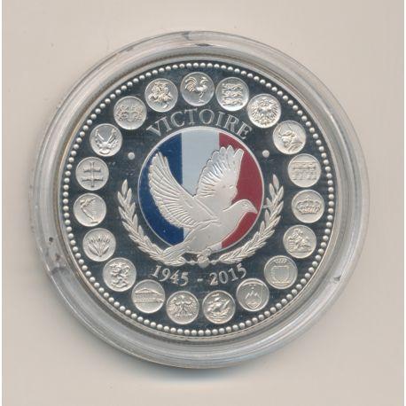 """Médaille - Victoire 1945 - 2015 essai - L""""europe des XXVII - nickel - 41mm"""
