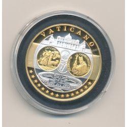 Médaille - 1ère frappe hommage Euro - Vatican - Europa - argent